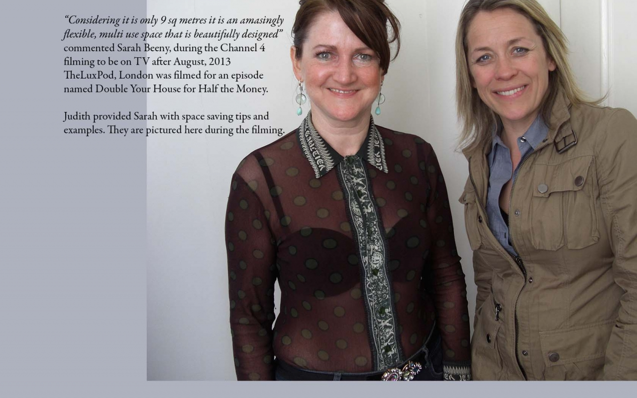 Judith and Sarah, during Channel 4 filming - Double Your House for Half the Money