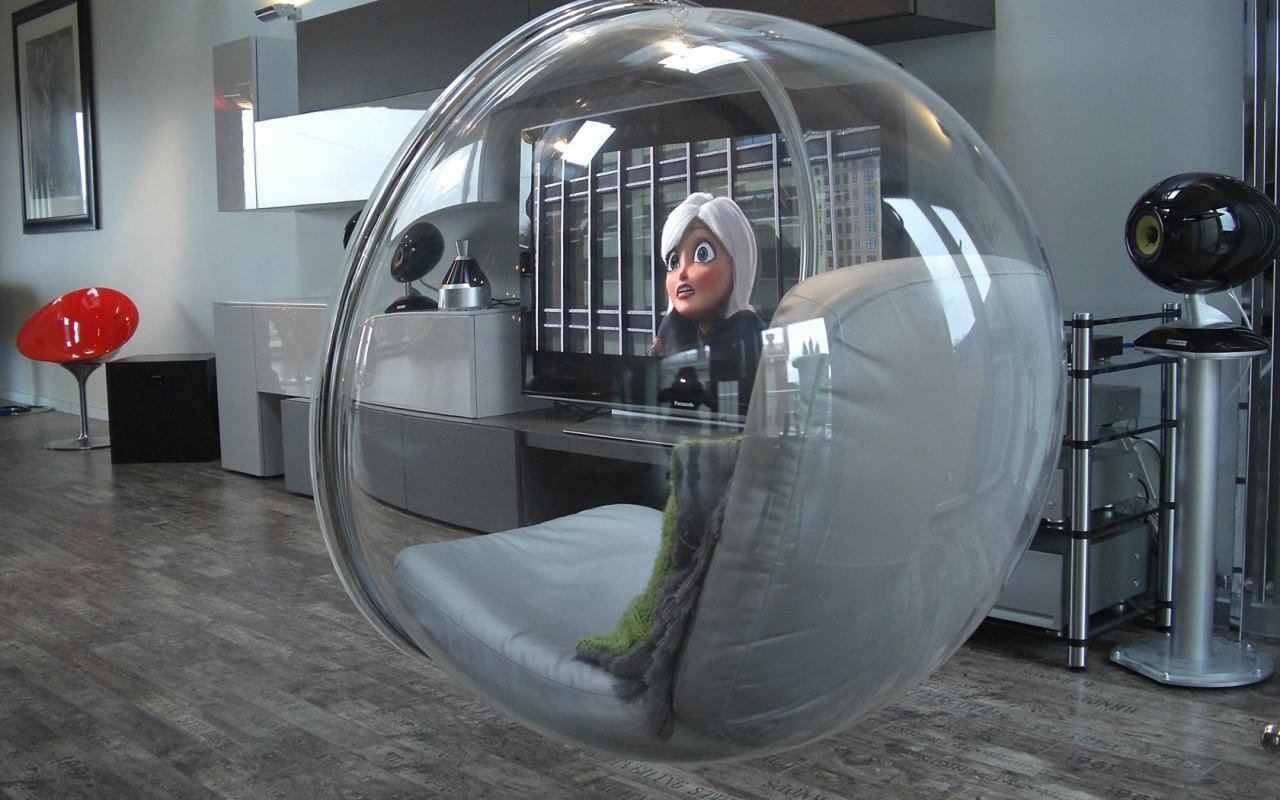 Bubble chair luxurious rental Liepaja Latvia