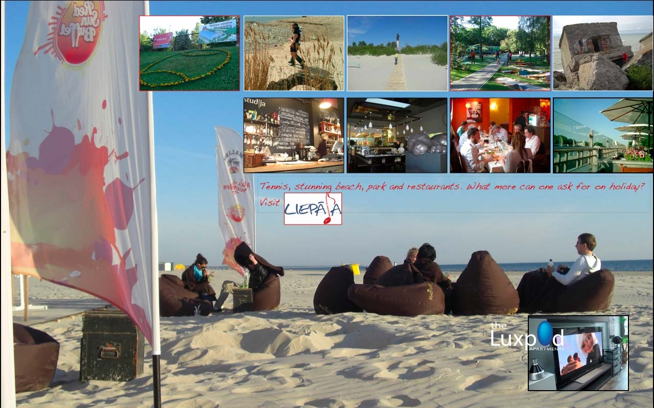 Beach, Park, Restaurants Liepaja, Latvia
